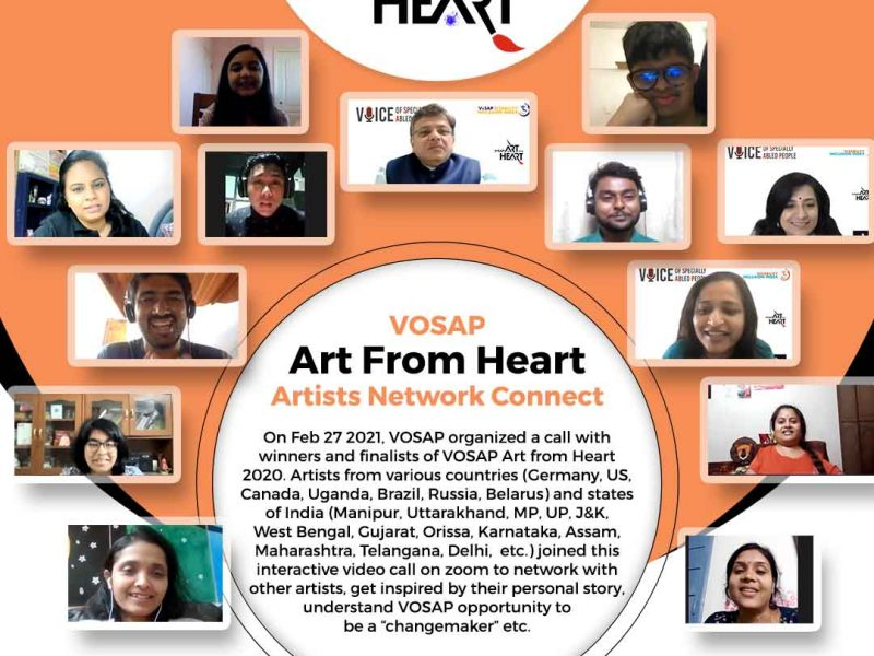 On Feb 27, VOSAP Connected with 57 Art from Heart Artists from across the world.
