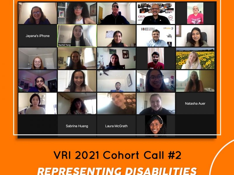 VRI Cohort Call#2 Various disability experts from US joined the call