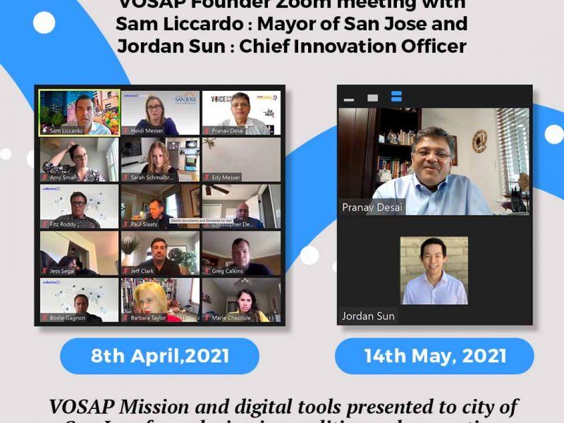 VOSAP Founder met with Sam Liccardo: Mayor of San Jose and Jordan Sun: Chief Innovation Officer