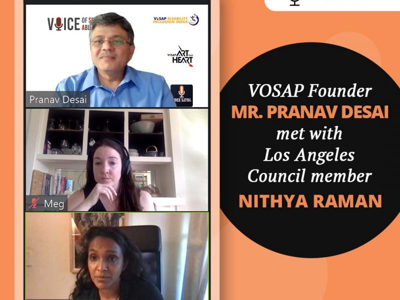 VOSAP Founder met with Nithya Raman, Los Angeles Council Member